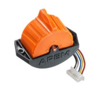 APEM HR Series Thumbwheel with Friction hold